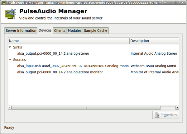 PulseAudio Manager Devices